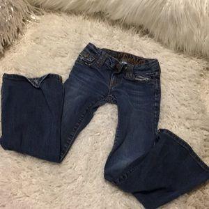 😍3/$39 Gap Denim 7 slim? Flare little girls jeans
